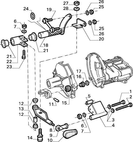 isostatic gear link alfa 75 and late gtv